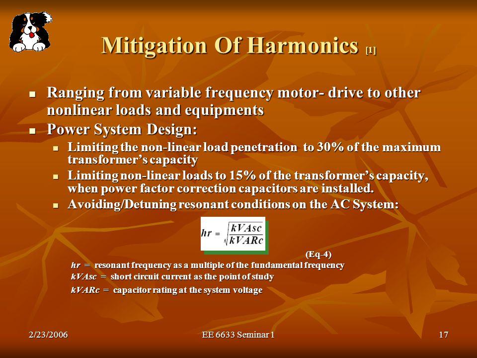 Mitigation Of Harmonics [1]